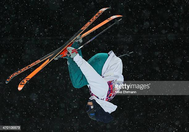 AnttiJussi Kemppainen of Finland competes in the Freestyle Skiing Men's Ski Halfpipe Qualification on day eleven of the 2014 2014 Winter Olympics at...