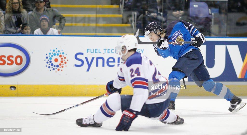 United States v Finland - 2019 IIHF World Junior Championship : News Photo