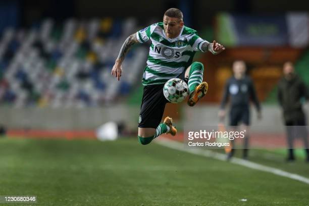Antunes of Sporting CP during the Taca da Liga final four semi final match between Sporting CP and FC Porto at Dr. Magalhaes Pessoa on January 19,...