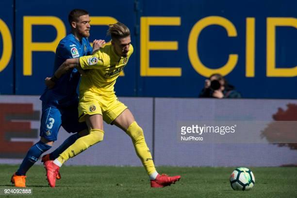 Antunes Samu Castillejo during the match between Villarreal CF against Getafe CF week 25 of La Liga 2017/18 in Ceramica stadium Villarreal SPAIN 25th...