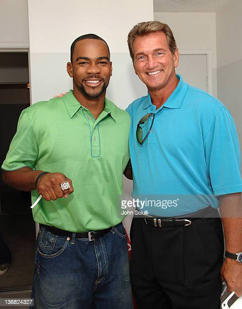 Antwaan Randle El and Joe Theismann during ESPY Style Lounge - Day 3 at Mondrian Hotel in Los Angeles, CA, United States.