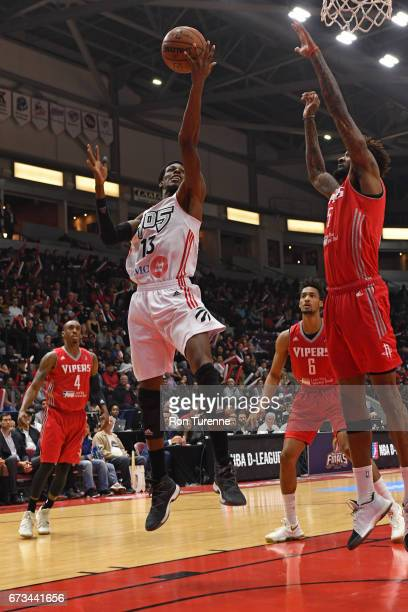 Antwaine Wiggins of the Raptors 905 drives to the basket against the Rio Grande Valley Vipers during Game Two of the DLeague Finals at the Hershey...