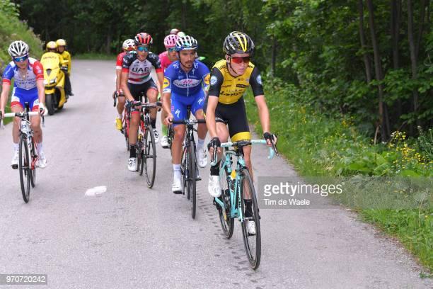 Antwan Tolhoek of The Netherlands and Team LottoNL Jumbo / Julian Alaphilippe of France and Team QuickStep Floors / Edward Ravasi of Italy and UAE...