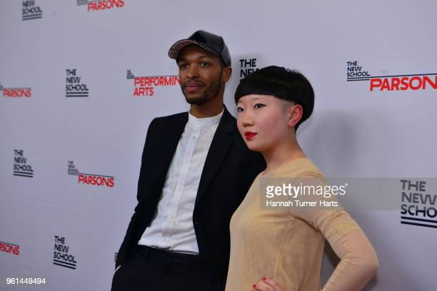 Antwaun Sargent and JiaJia Fei attends the 70th Annual Parsons Benefit at Pier Sixty at Chelsea Piers on May 21 2018 in New York City