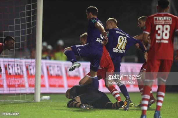 20170728 Antwerp Belgium / Antwerp Fc v Rsc Anderlecht / 'nSinan BOLAT Uros SPAJIC'nFootball Jupiler Pro League 2017 2018 Matchday 1 / 'nPicture by...