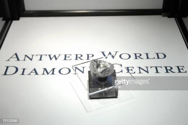 The ' Lesotho Promise ' a rough diamond of 603 carats is presented 09 October 2006 by theAntwerp World Diamond Center The diamond has a value of 981...