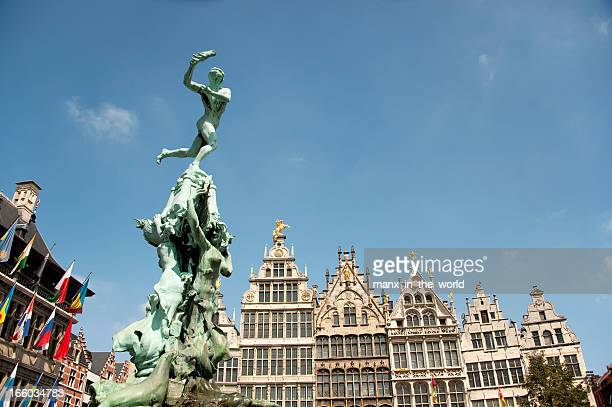 Antwerp, Brabo and historical house fronts