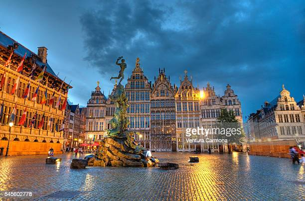 Antwerp City Hall and The Brabo Statue