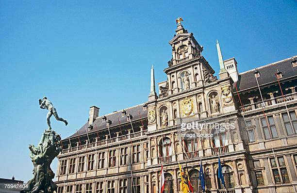 antwerp city hall - town hall stock pictures, royalty-free photos & images