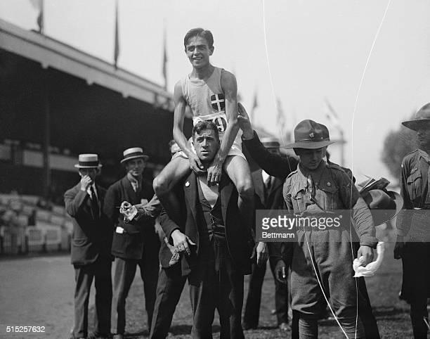 Antwerp: Olympic Games at Antwerp. Ugo Frigerio of Italy.