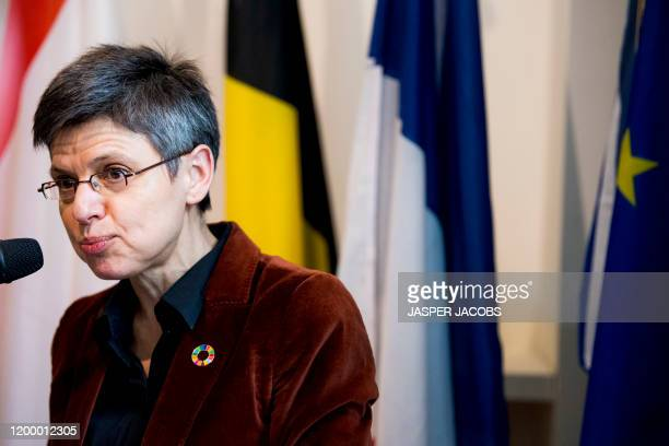 Antwerp province governor Cathy Berx pictured during the inauguration of the 'Maison de France', in Antwerp, Tuesday 11 February 2020. BELGA PHOTO...