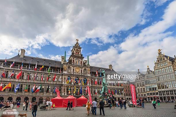 antwerp, the city hall- belgium - antwerpen stad stockfoto's en -beelden