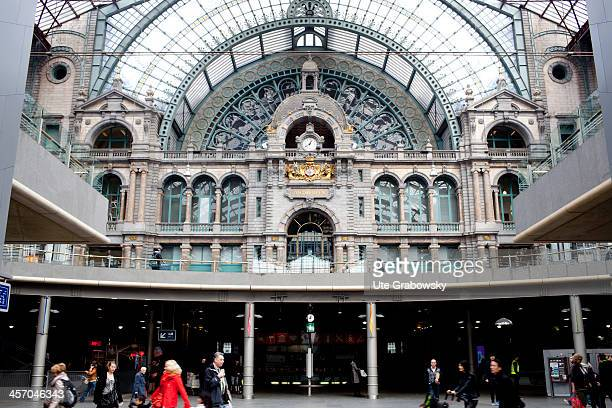 AntwerpenCentraal the main railway station on April 20 in Antwerp Belgium Photo by Ute Grabowsky/Photothek via Getty Images