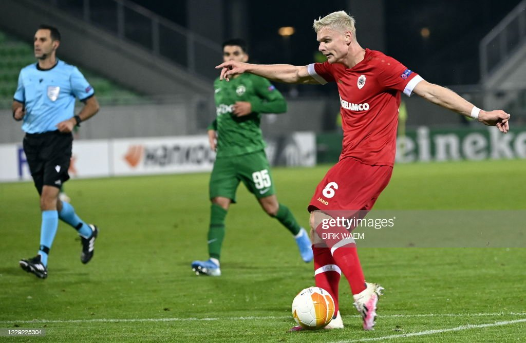 SOCCER EL D1 PFK LUDOGORETS VS ANTWERP FC : News Photo