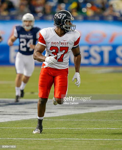 Antwione Willams from Georgia Southern playing on the East Team during the first half of the East West Shrine Game at Tropicana Field on January 23,...