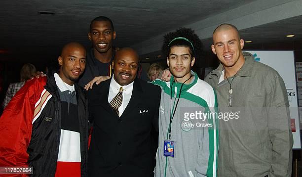 Antwon Tanner Nana Gbewony Ken Carter coach Rick Gonzalez and Channing Tatum