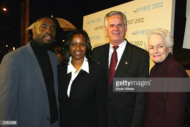 Antwone and LaNette Fisher Mayor Jim Hahn and AFI's Jean Picker Firstenberg at the AFI Fest 2002 Opening Night Gala screening of Antwone Fisher at...