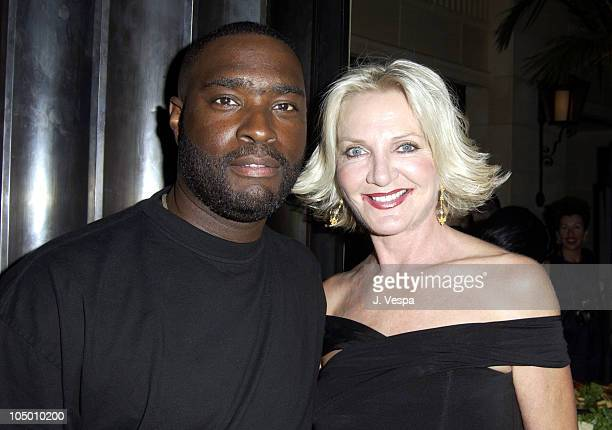 Antwone Fisher and Dagmar Dunlevy, HFPA President during 2002 Toronto Film Festival - Instyle Party at Windsor Arms Hotel in Toronto, Ontario, Canada.
