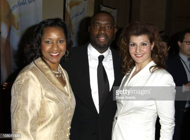 Antwone Fisher and Nia Vardalos with guest during 55th Annual Writers Guild of America West Awards Arrivals at Beverly Hilton Hotel in Beverly Hills...