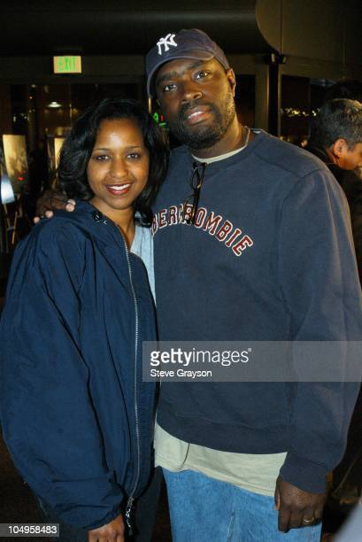 Antwone Fisher and wife Glanette during Los Angeles Industry Screening Of Fox Searchlight Pictures' 'The Good Thief' at Directors Guild of America in...