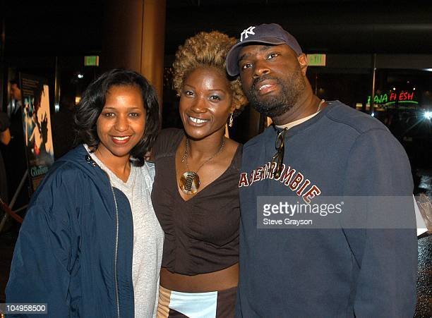 Antwone Fisher and wife Glanette with Yolonda Ross