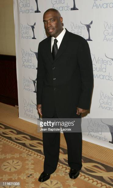 Antwone Fisher during 2007 Writers Guild of America Press Room at Hyatt Regency Century Plaza Hotel in Los Angeles California United States