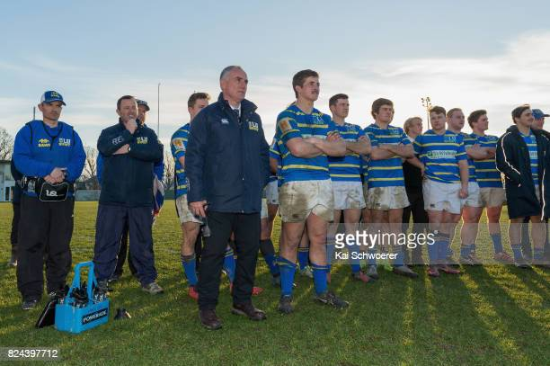 Anty Burnett of Lincoln and his team mates look on following the Canterbury Metro Trophy Final match between Lincoln University and Canterbury...