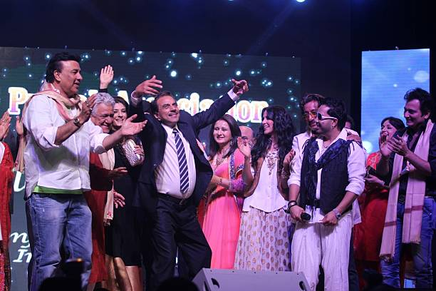 Anu Malik Om Puri Raveena Tandon Dharmendra Poonam Dhillon Neha Dhupia Shakti Kapoor and Mika at Baisakhi Celebration cohosted by G S Bawa and Punjab.