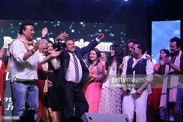 Anu Malik Om Puri Raveena Tandon Dharmendra Poonam Dhillon Neha Dhupia Shakti Kapoor and Mika at Baisakhi Celebration cohosted by G S Bawa and Punjab...