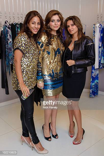Anu Mehtani Kanika Chandok and Meleni Bharwani attend the Emilio Pucci cocktail party on June 18 2010 in London England