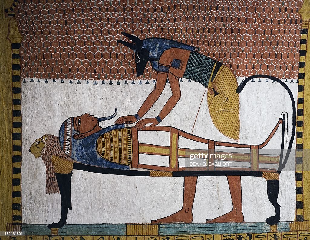 Anubis warming the heart of the deceased... : News Photo
