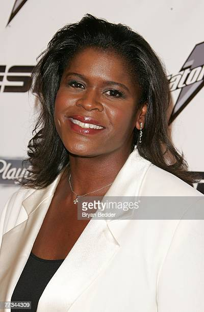 Anucha Browne Sanders arrives on the Playtex Sport Pink Carpet at the Women's Sports Foundation's 28th Annual Salute to Women in Sports at the...