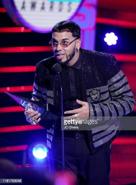 Anuel AA accepts Artist of the Year onstage during the 2019 Latin American Music Awards at Dolby Theatre on October 17 2019 in Hollywood California