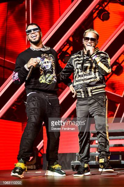 Anuel AA and Casper Magico perform live on stage during Anuel AA Karol G In Concert at United Palace Theater on November 17 2018 in New York City