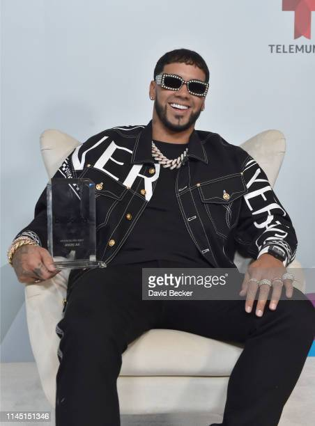 Anuel AA attends the 2019 Billboard Latin Music Awards at the Mandalay Bay Events Center on April 25 2019 in Las Vegas Nevada