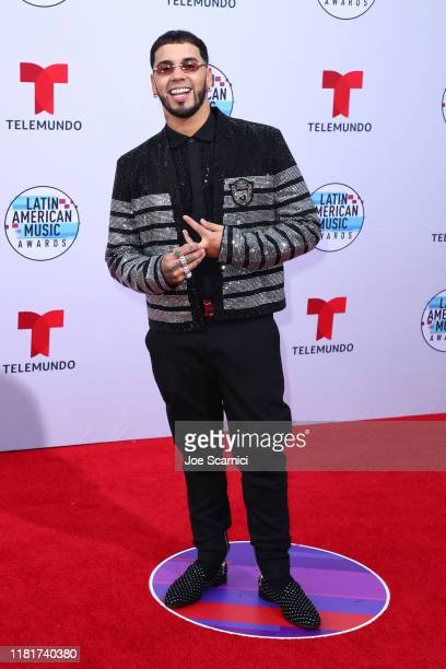 Anuel AA attends the 2019 Latin American Music Awards at Dolby Theatre on October 17 2019 in Hollywood California