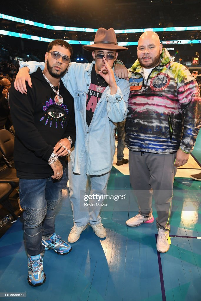 Anuel Aa Bad Bunny And Fat Joe Attend The 68th Nba All Star Game At News Photo Getty Images