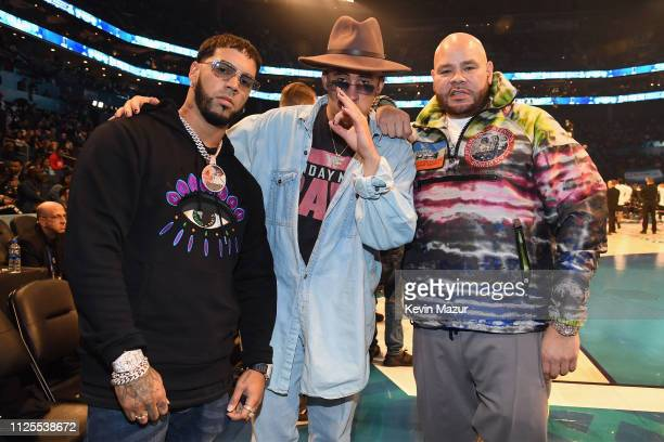 Anuel AA Bad Bunny and Fat Joe attend the 68th NBA AllStar Game at Spectrum Center on February 17 2019 in Charlotte North Carolina