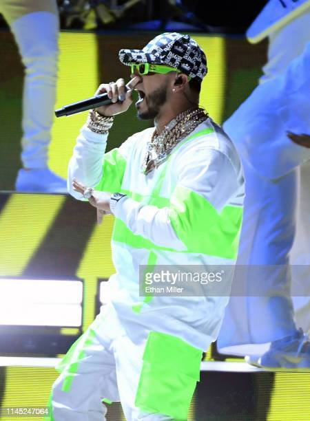 Anuel AA performs during the 2019 Billboard Latin Music Awards at the Mandalay Bay Events Center on April 25, 2019 in Las Vegas, Nevada.