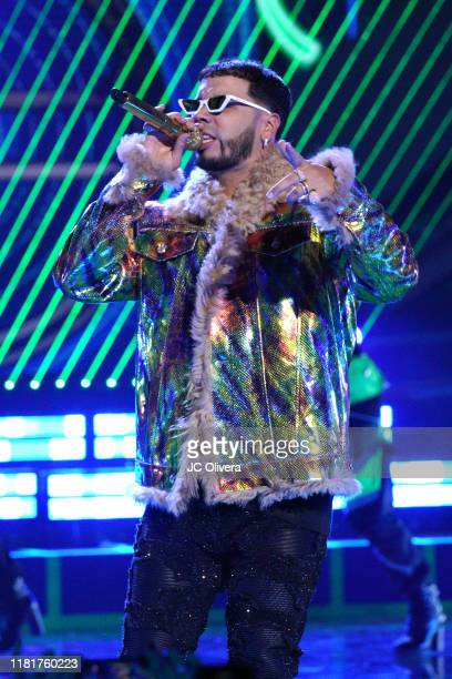 Anuel AA performs onstage during the 2019 Latin American Music Awards at Dolby Theatre on October 17 2019 in Hollywood California
