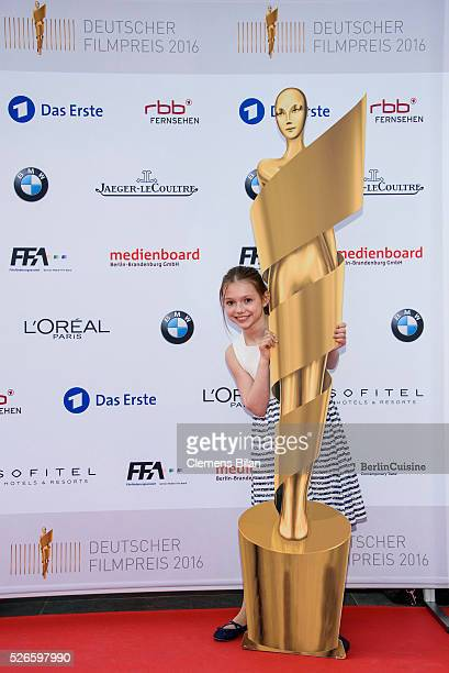 Anuk Steffen attends the nominee dinner for the German Film Award 2015 Lola on April 30 2016 in Berlin Germany