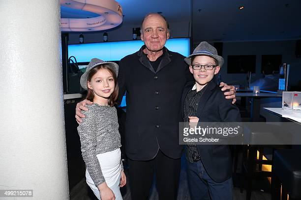 Anuk Steffen Bruno Ganz and Quirin Agrippi during the German premiere of the film 'HEIDI' at Mathaeser Filmpalast on November 29 2015 in Munich...
