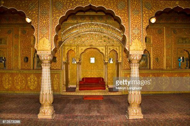 Anup Mahal, a palace in Junagarh Fort, Bikaner, Rajasthan, India