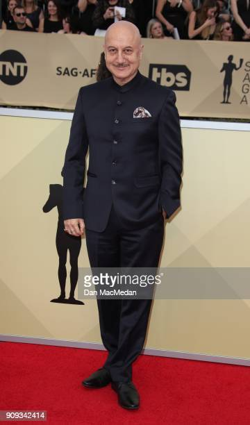 Anupam Kher arrives at the 24th Annual Screen Actors Guild Awards at The Shrine Auditorium on January 21 2018 in Los Angeles California