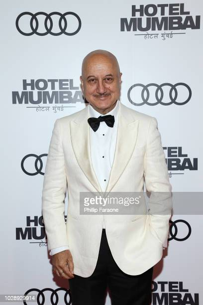 Anupam Kher arrives at the post screening event for Hotel Mumbai at Windsor Arms Hotel on September 7 2018 in Toronto Canada