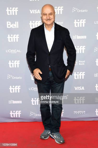Anupam Kher attends 'Hotel Mumbai' Press Conference during 2018 Toronto International Film Festival at TIFF Bell Lightbox on September 8 2018 in...