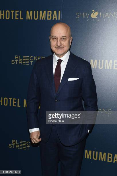 Anupam Kher attends the 'Hotel Mumbai' New York Screening at Museum of Modern Art on March 17 2019 in New York City
