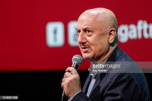 Anupam Kher discusses 'New Amsterdam' during SAGAFTRA Foundation Conversations at The Robin Williams Center on October 9 2018 in New York City