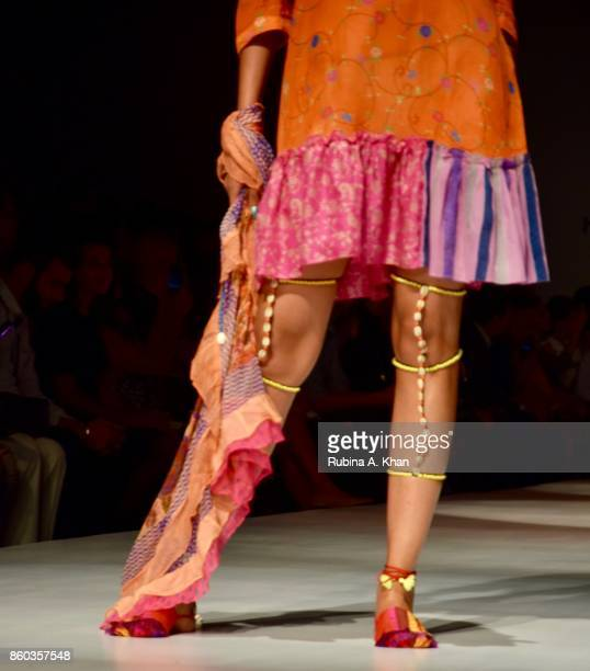 Anupama Dayal's Jalpari collection at the Fashion Design Council of India's 30th edition of India Fashion Week Spring Summer 2018 held at National...