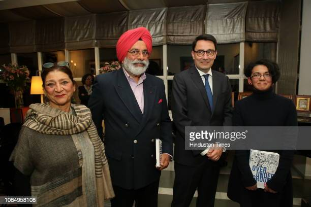 Anupama Singh Gen JJ Singh Alexandre Ziegler and Karthika Nair at the launch of Over and Under Ground in Mumbai Paris an Indofrench illustrated book...